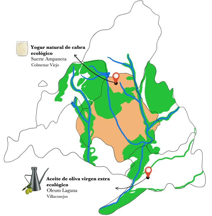 Mapa de Bizcocho de yogur de cabra