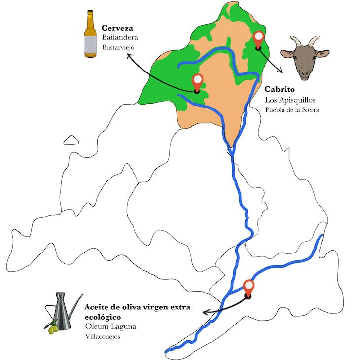 Mapa caldereta de cabrito