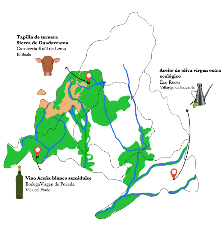 Mapa del plato de carpaccio