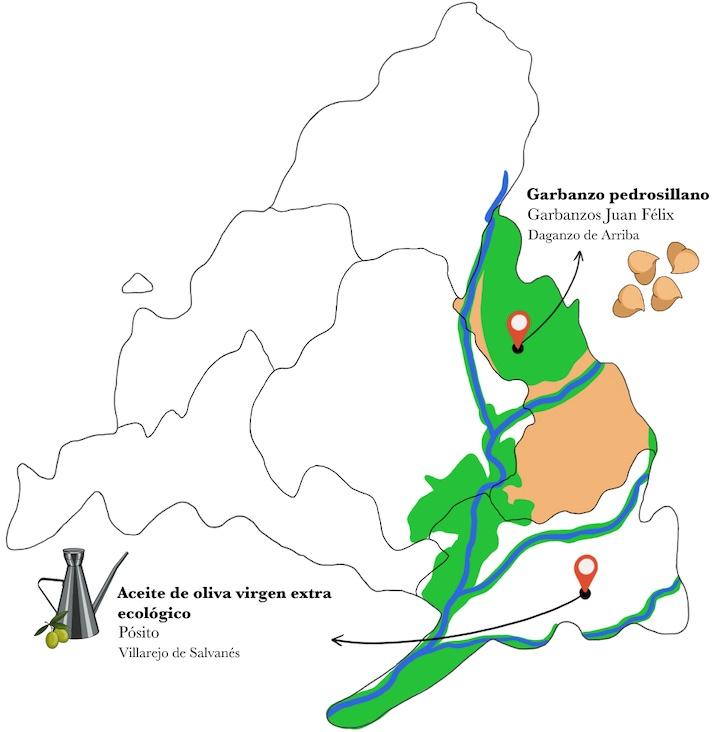 Mapa garbanzos a la vinagreta