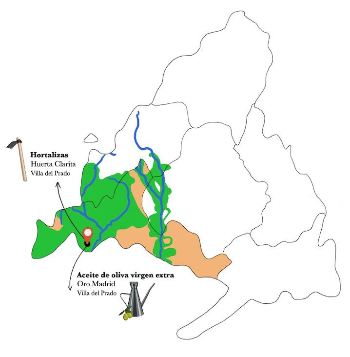 Mapa gazpacho de pastores