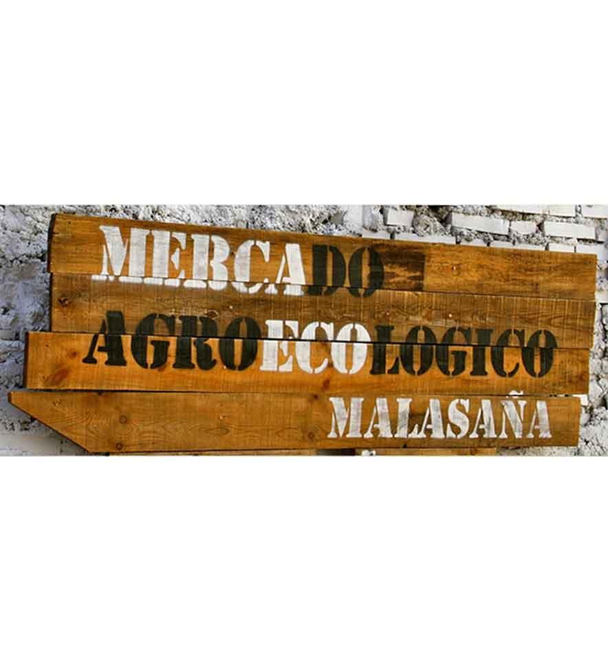 Cartel del Mercado Agroecológico Malasaña