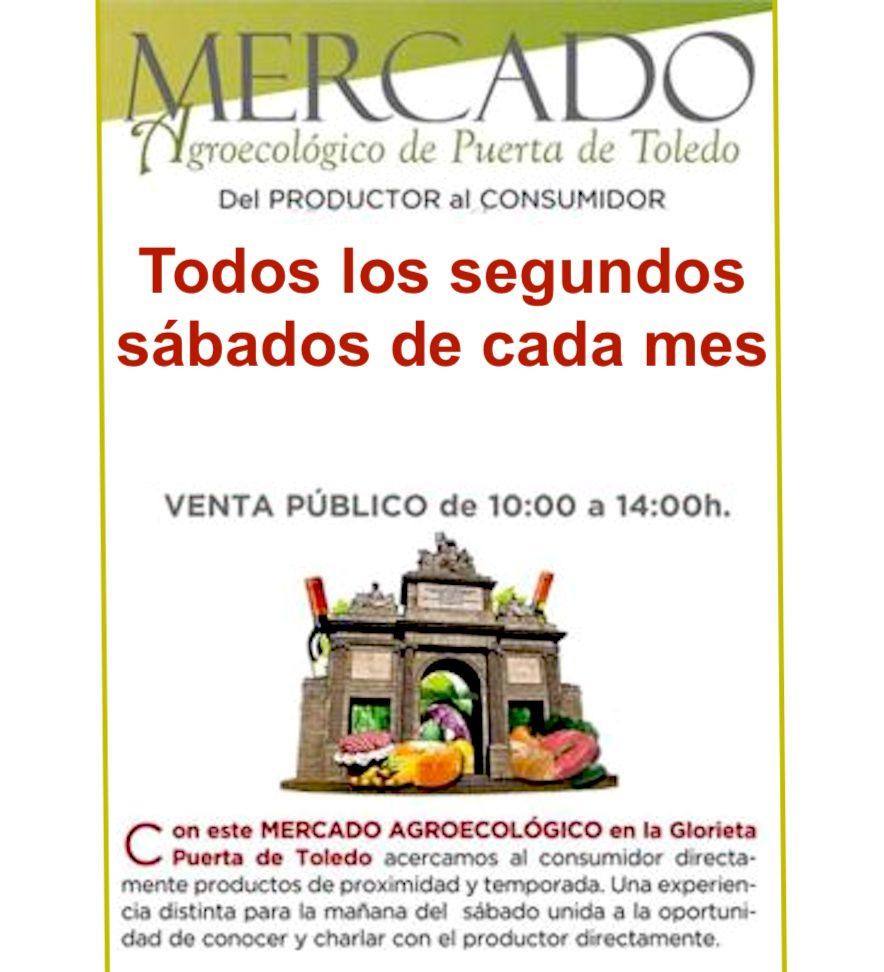 Cartel del Mercado Agroecológico de Puerta de Toledo, Madrid