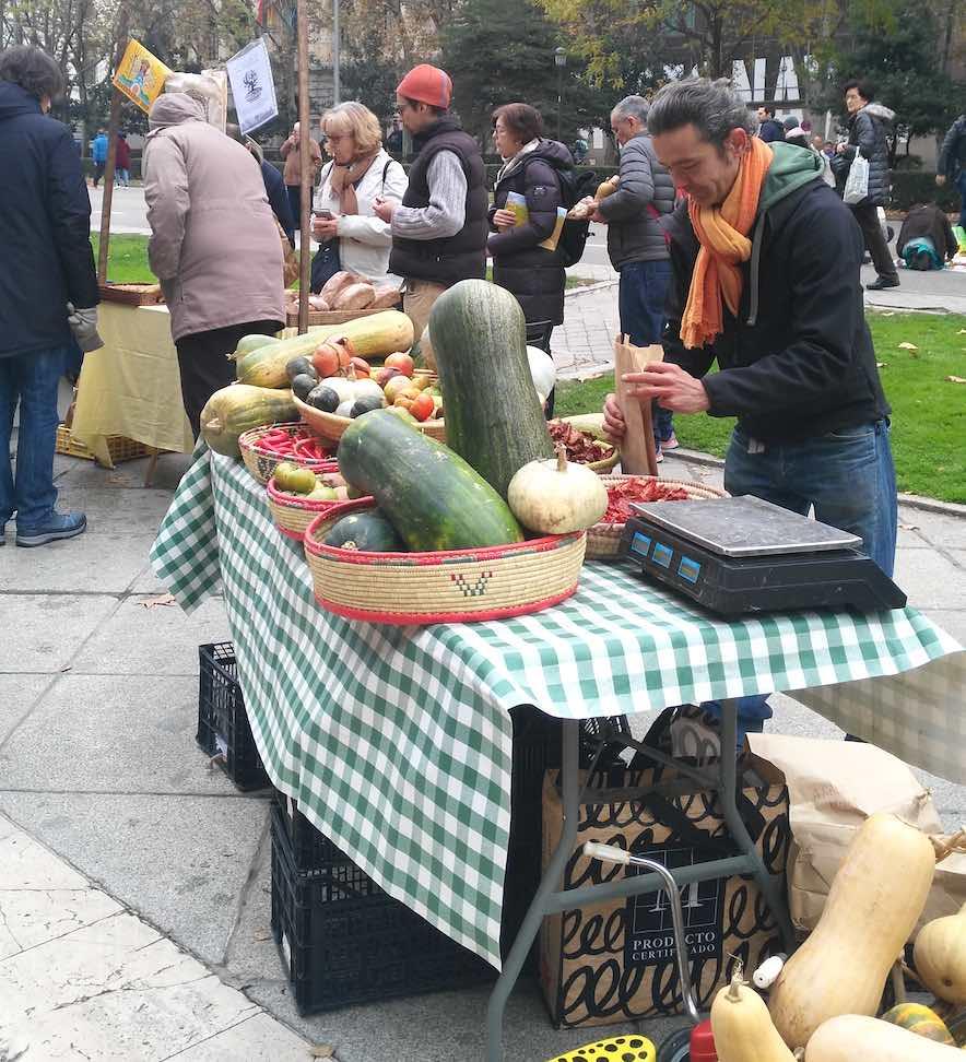 Mercadillo agroecológico de la Plaza de Cibeles