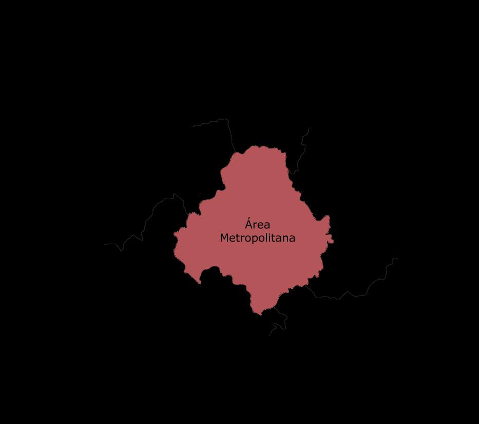 Mapa de la comarca agrícola Área Metropolitana de Madrid