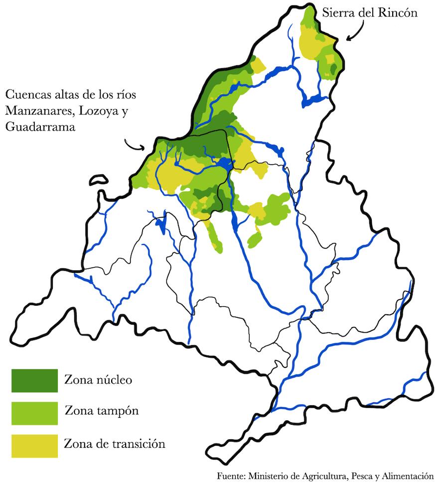 Mapa Reservas de la Biosfera