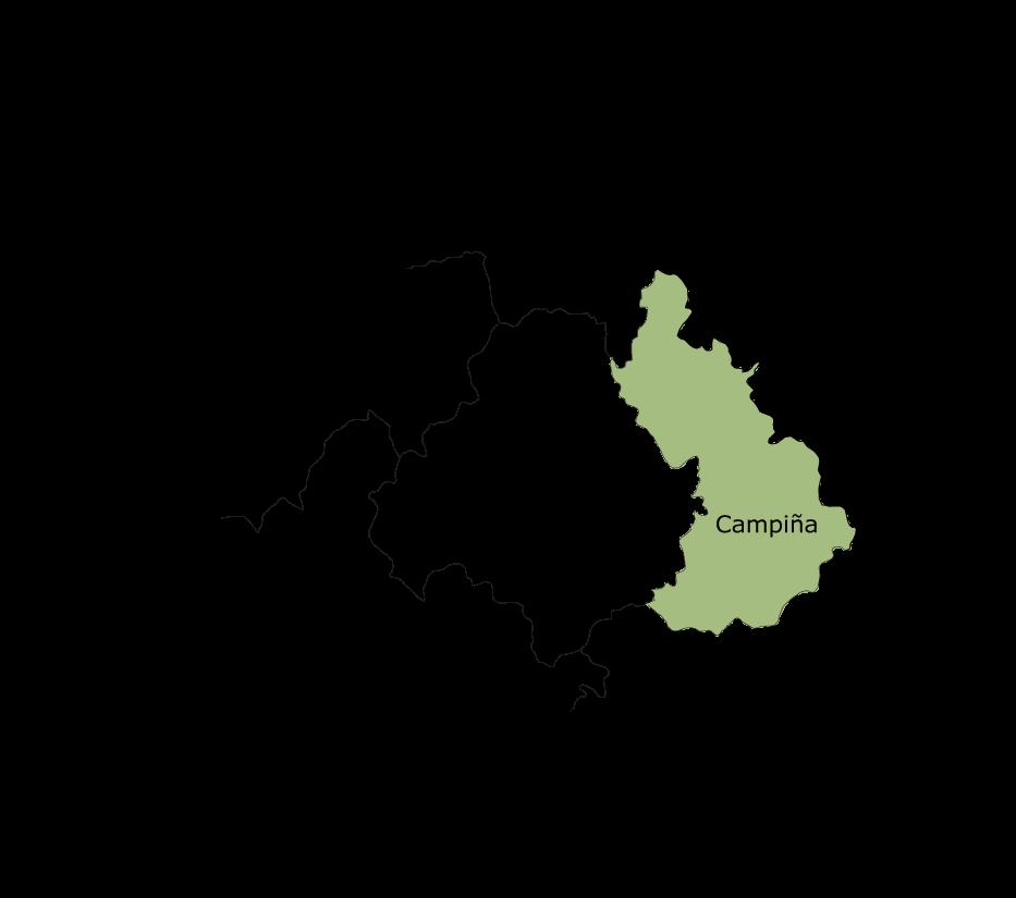 Mapa de la comarca agrícola de la Campiña