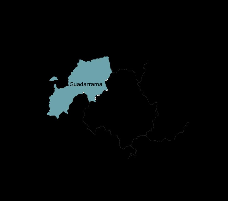 Mapa de la comarca agrícola de Guadarrama
